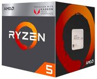 Процессор AMD RYZEN X4 R5-2400G SAM4 BOX 65W 3600  YD2400C5FBBOX
