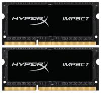 Модуль памяти Kingston HX316LS9IBK2/8 8GB 1600MHz DDR3L CL9 SODIMM (Kit of 2) 1.35V HyperX Impact Black