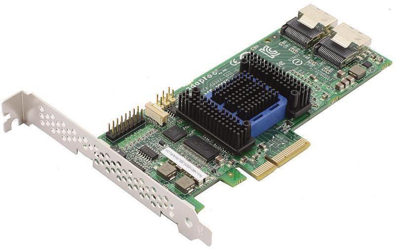 Контроллер SAS Adaptec ASR-6805E SGL 2270900-R (PCI-E v2 x4, LP, SAS 6G, RAID 0,1,10,1E, 8port(int2*SFF8087), 128Mb onboard,Каб.отдельно)