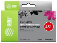 Картридж струйный Cactus CS-CLI451M пурпурный для Canon MG6340/5440/IP7240 (9.8мл)