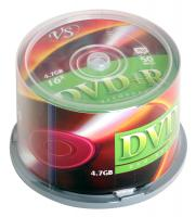 Диски DVD+R VS, 4.7Gb, Cake Box, 50 шт DVD+R, 4.7Gb