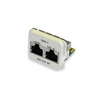 Вставка AMP 1711804-5 ACO Category 6a Insert, Dual, PO:36,45/12,36, (ISDN(TR)/100 Base T), white