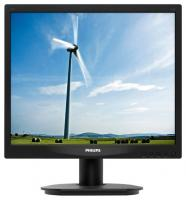 "Монитор 17"" Philips 17S4LSB/00 17S4LSB (10/62) черный TN+film LED 5ms 5:4 матовая 250cd 1280x1024 D-Sub 3.54кг"
