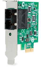 Сетевой адаптер Allied Telesis 100Mbps Fast Ethernet PCI-Express Fiber Adapter Card; SC connector, includes both standard and low profile brackets, Single pack