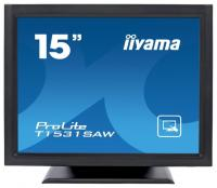 "Монитор 15"" Iiyama T1531SAW-B5 черный TN LED 8ms 4:3 DVI M/M матовая 700:1 370cd 170гр/160гр 1280x768 D-Sub HD READY USB Touch 4.8кг"