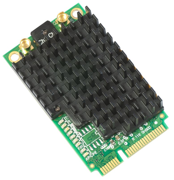 Карта MikroTik 802.11a/c High Power miniPCI-e card with MMCX connectors