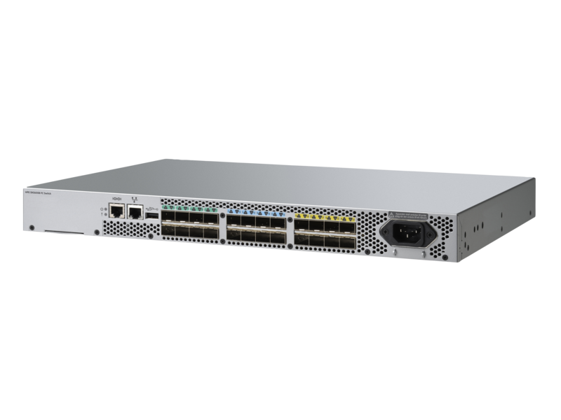 Коммутатор HPE SAN switch SN3600B 24/8 32Gb (ext. 24x32Gb ports - 8 active ports,Advanced Fabric Os, Advanced Web Tools and Advanced Zoning, no SFP) analog Q1H70A