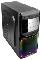 Корпус ATX AeroCool V3X RGB черный без БП 1x92mm 2xUSB2.0 1xUSB3.0 audio