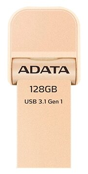 Накопитель USB 3.1 128GB A-DATA AAI920-128G-CRG i-Memory AI920, USB 3.1/Lightning, Rose Gold