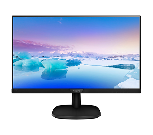 "Монитор 21,5"" Philips 223V7QDSB 1920x1080 IPS LED 16:9 5ms VGA DVI HDMI 10M:1 178/178 250cd Black(223V7QDSB/01)"