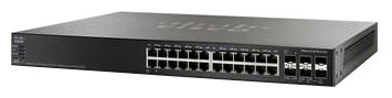 Коммутатор PoE Cisco SB SG500X-24P-K9-G5 24-портовый Gig POE with 4-Port 10-Gig Stackable Managed Switch