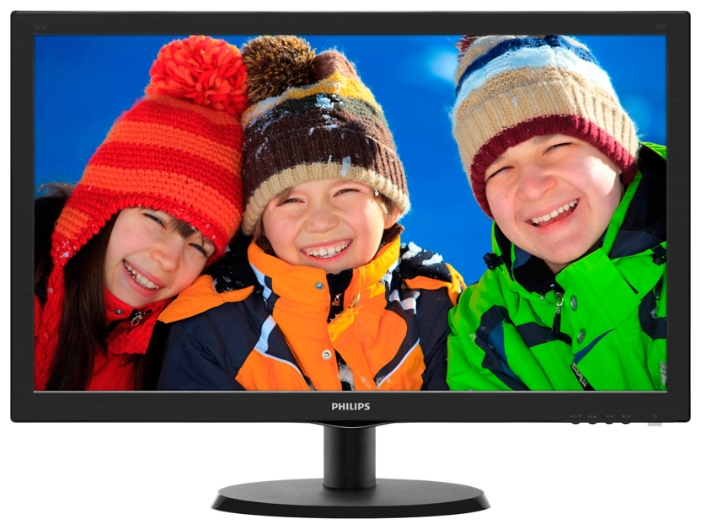 "Монитор 21,5"" Philips 223V5LSB 1920x1080 TN LED 16:9 5ms VGA DVI 10M:1 170/160 250cd Glossy-Black"