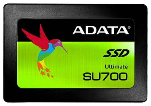 "Жесткий диск A-DATA ASU700SS-240GT-C SU700 240GB SSD SATA 2.5"" 7mm, R560/W520 Mb/s, IOPS 60K/80K, MTBF 2M, 3D NAND TLC, 140TBW, Adapter 2.5"" (7mm to 9"