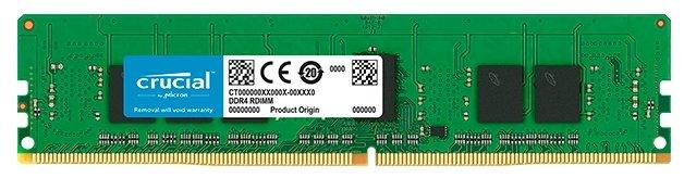 Купить Модуль памяти Crucial CT4G4RFS8266 by Micron DDR4 4GB (PC4-21300) 2666MHz ECC Registered SR x8, 1.2V CL17