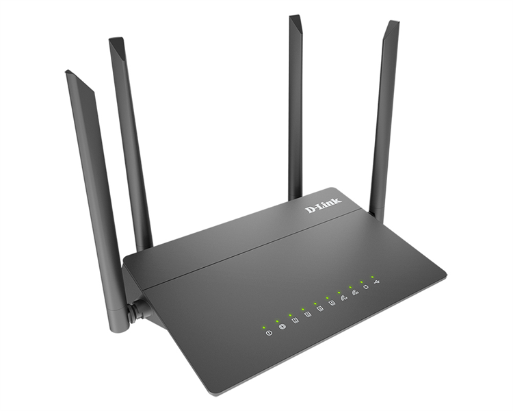 Маршрутизатор D-Link DIR-815/RU/R1B, Wireless AC1200 Dual-Band Router with 3G/LTE Support, 1 10/100Base-TX WAN port, 4 10/100Base-TX LAN ports and 1 USB Port