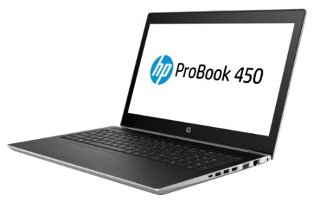 "Ноутбук 15.6"" HP 2RS03EA ProBook 450 G5 Core i5 8250U/8Gb/1Tb/nVidia GeForce 930MX 2Gb/UWVA/FHD (1920x1080)/Free DOS 2.0/silver/WiFi/BT/Cam"