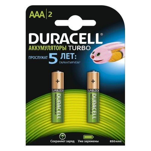 Купить со скидкой Аккумуляторная батарея Duracell HR03-2BL 800mAh 2 шт