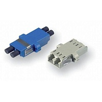 Адаптер AMP 1933286-4 LC Duplex Adapter, SM/MM, with SL Housing, Blue