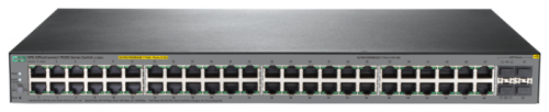Коммутатор HPE JL386A 1920S 48G 4SFP PPoE+ 370W Swch (24x10/100/1000 RJ-45 PoE+ + 24x10/100/1000 RJ-45 + 4xSFP, Web-managed, static routing, 19')
