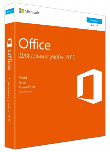 ПО Microsoft 79G-04713 Office Home and Student 2016 Russian Medialess