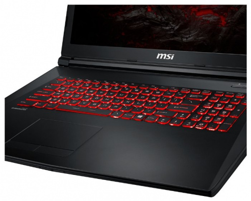 "Ноутбук 17.3"" MSI 9S7-1799E5-1236 GL72M 7REX-1236RU Core i7 7700HQ/8Gb/1Tb/nVidia GeForce GTX 1050 Ti 4Gb/FHD (1920x1080)/Windows 10/black/WiFi/BT/Cam"
