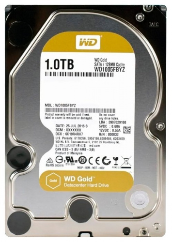Жесткий диск SATA 1TB Western Digital WD1005FBYZ  7200RPM 6GB /S 128MB GOLD  WDC