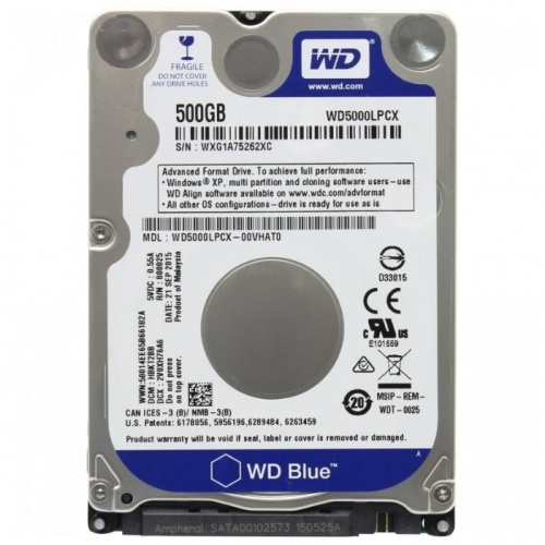 "Жесткий диск SATA 2.5"" 500GB Western Digital WD5000LPCX 5400RPM 16MB  WDC"